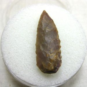 Genuine Prehistoric Mesolithic Age Laurel Leaf Arrowhead from North Africa